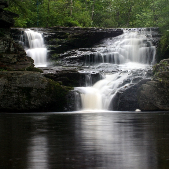 Choke Creek Falls in the Pinchot (formerly Lackawanna) State Forest