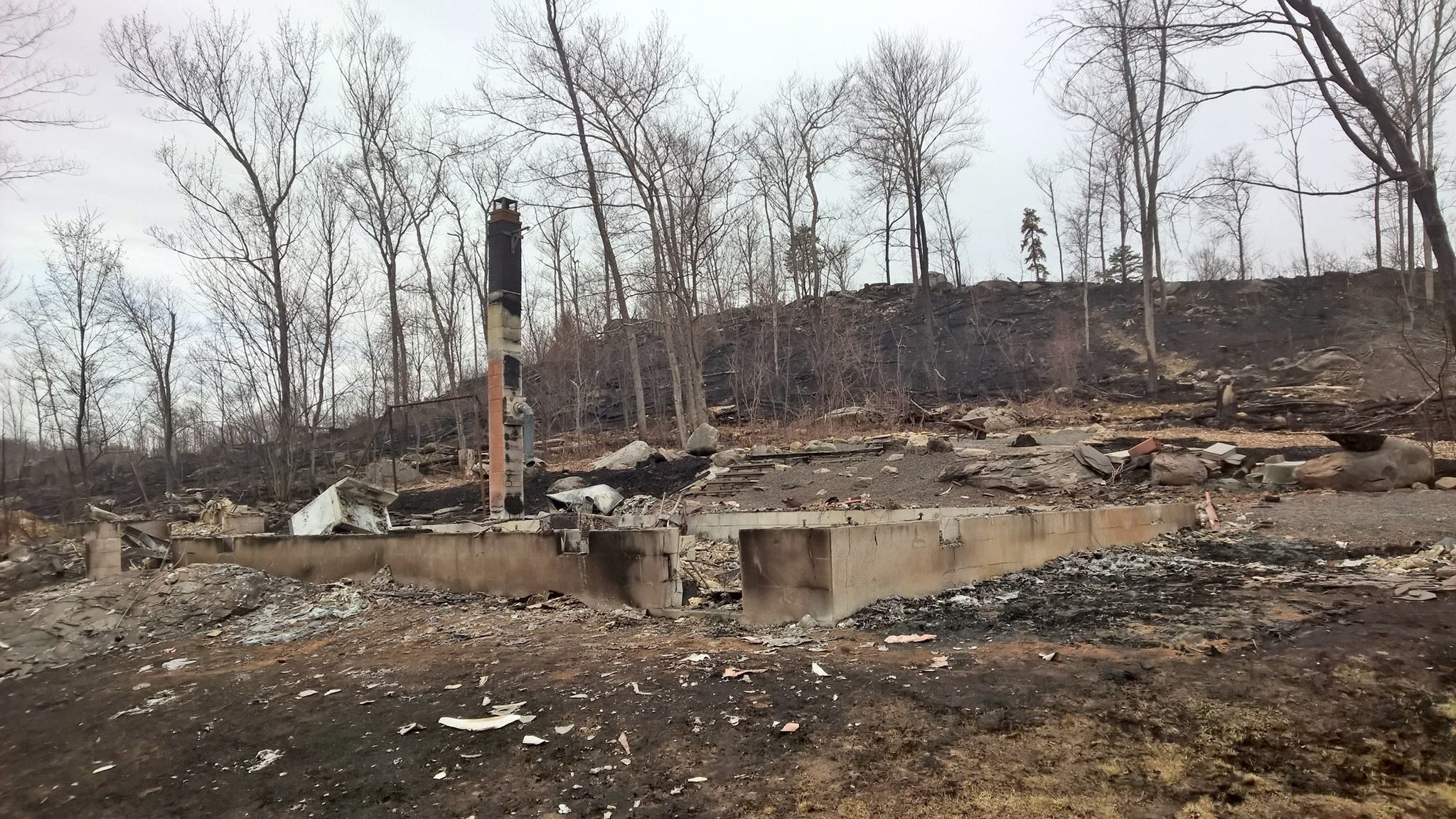 Burned Cabin near Flat Ridge