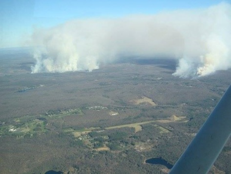 DCNR Air Recon shot of fires